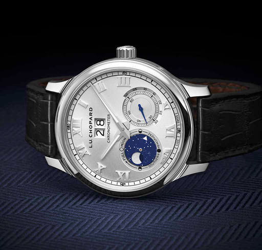 Chopard's high-precision moon-phase models are extremely accurate: this complication loses just one day in 122 years.