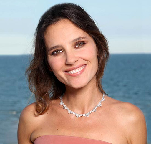Virginie Ledoyen wearing a stunning diamond choker set in Fairmined gold at the Venice Film Festival in 2013
