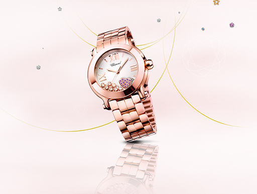 chopard montre, montre happy diamonds,personnaliser sa montre