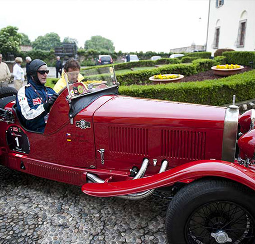 The first edition of the Mille Miglia has been won by Minoja  and Morandi on a OM665 Superba in 1927.