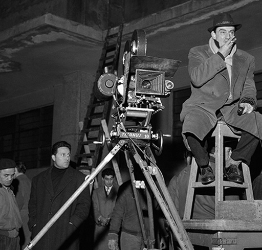 Luchino Visconti directing a sequence from Rocco and His Brothers (1960)