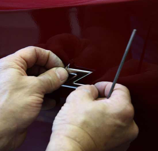 The final touch is the Zagato logo mounted on the bodywork: a much respected signature.