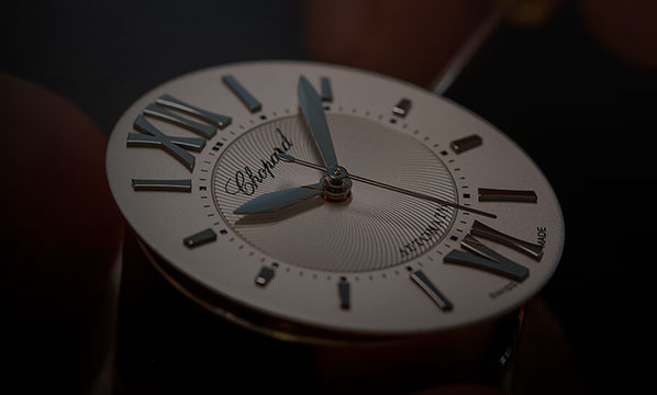 Close-up of a Chopard's watch.