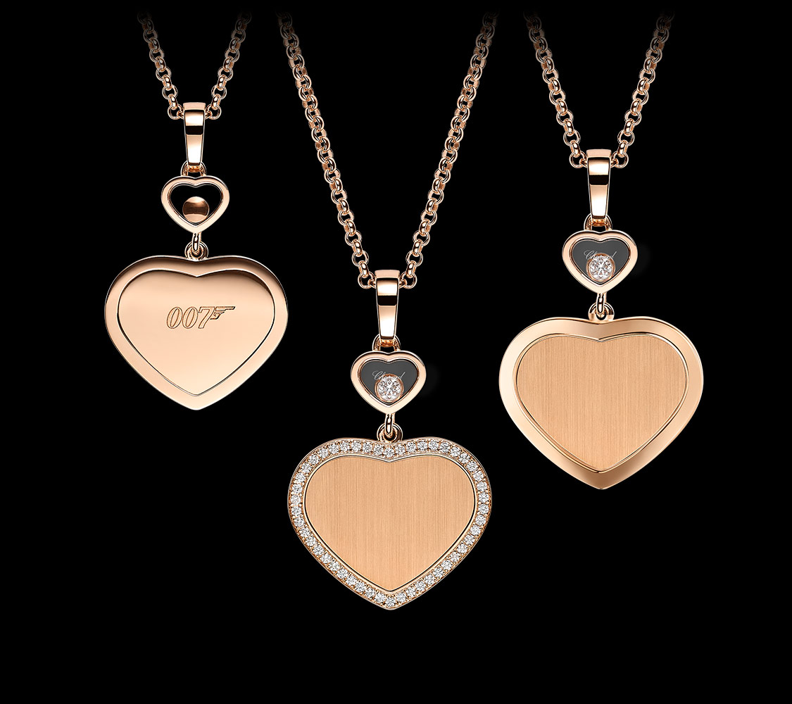 Chopard happy hearts necklace in gold