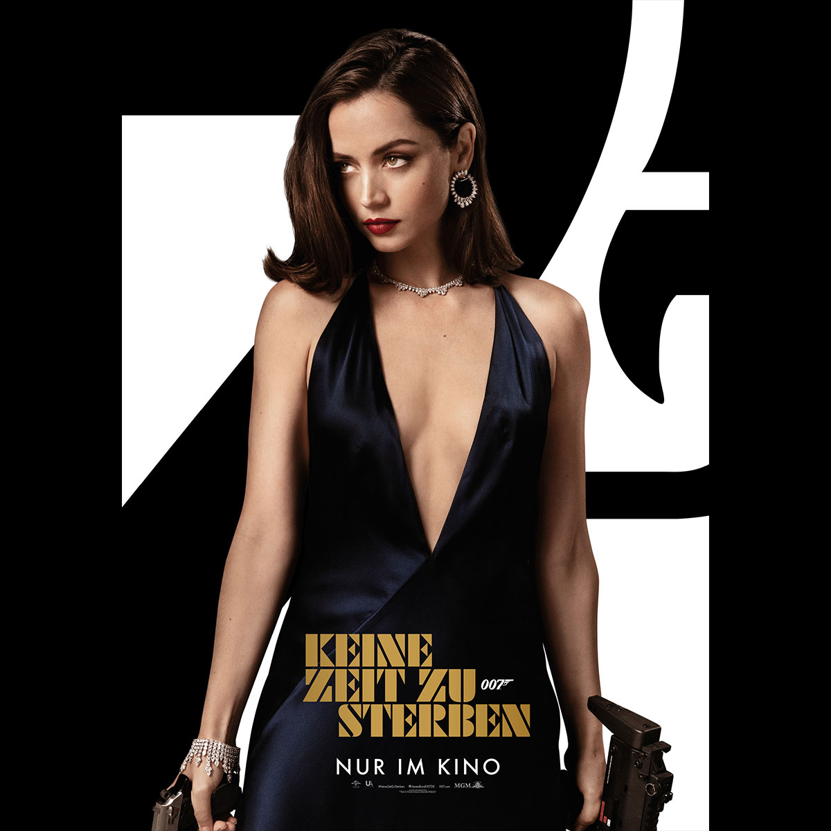 Movie poster on which Ana de Armas is wearing a black dress