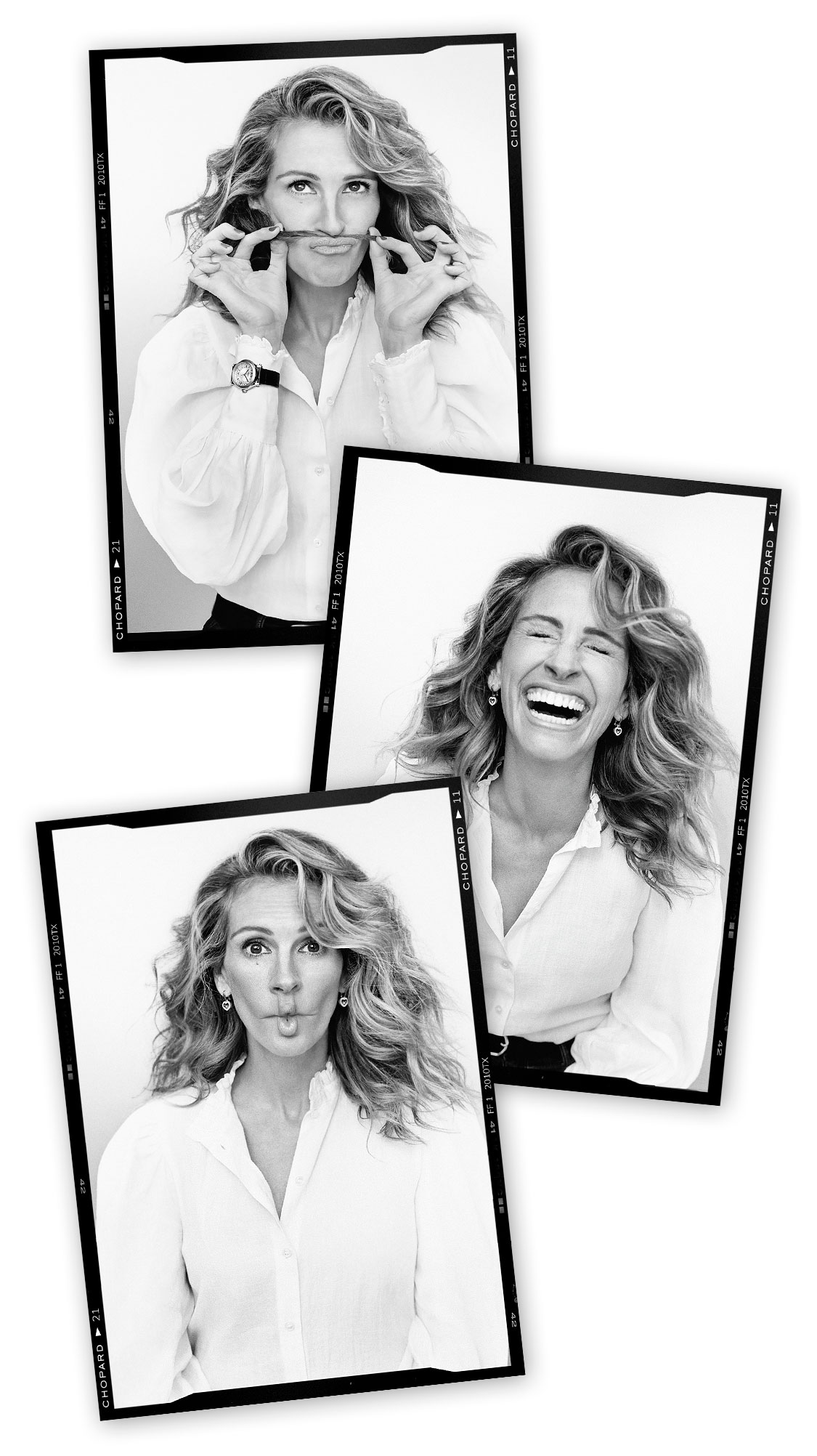 8 small picture illustrating Julia Roberts under severals angles