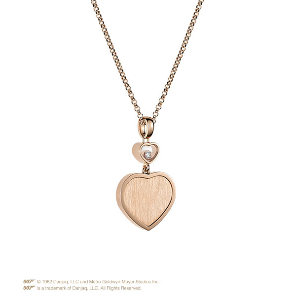 Happy Hearts Golden Hearts Pendant in rose gold and diamonds
