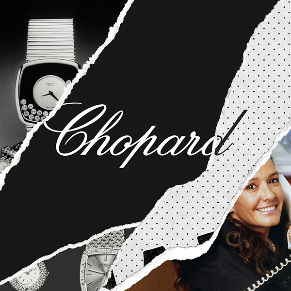 poster wall with chopard written on it