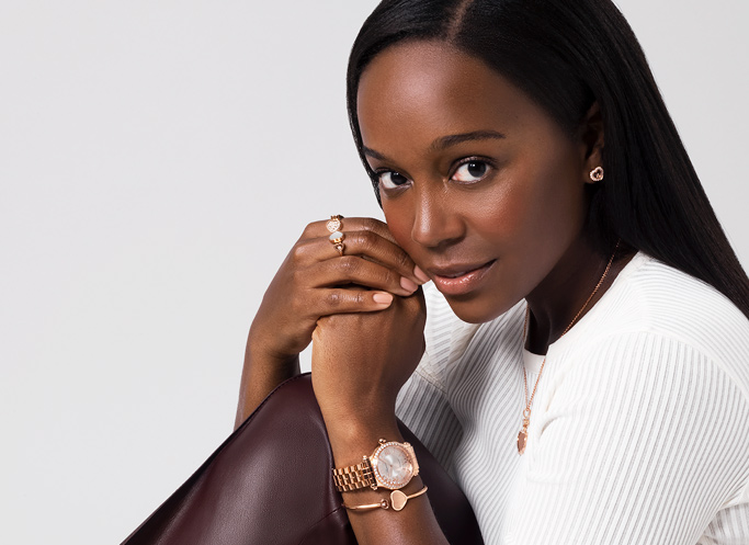 Close-up of Aja Naomi King