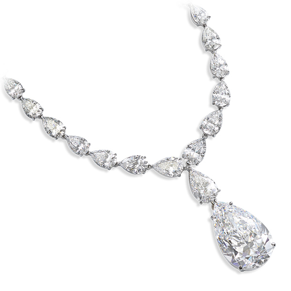 A beautiful necklace enriched with diamonds
