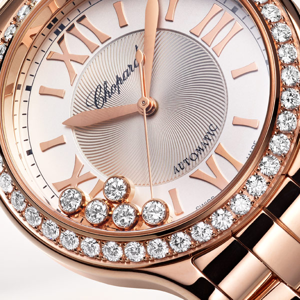 Happy Sport 33mm watch in Rose gold 2