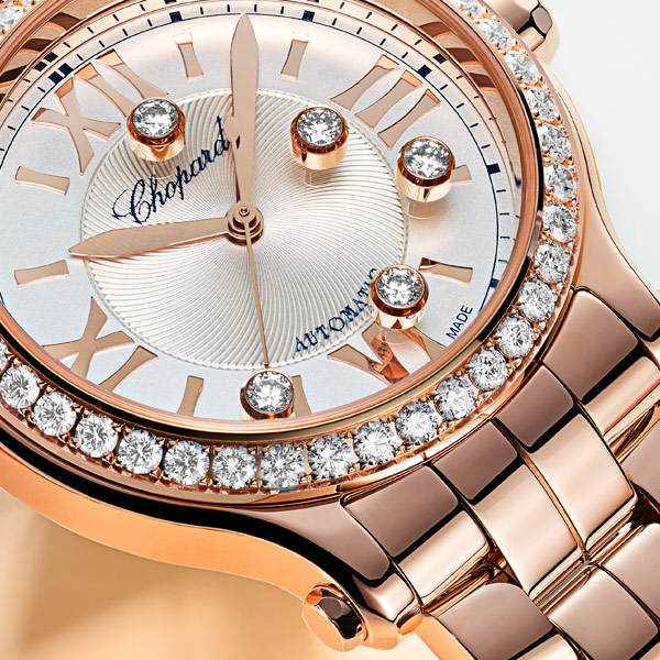 Happy Sport 33mm watch in Rose gold 4