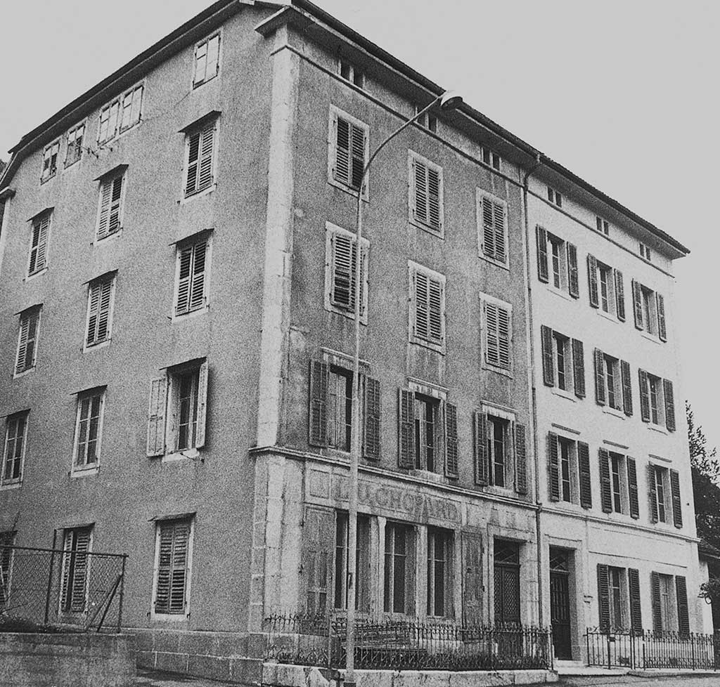 In 1937, Chopard relocates to Geneva. Pictured here is the Manufacture in Sonvilier.