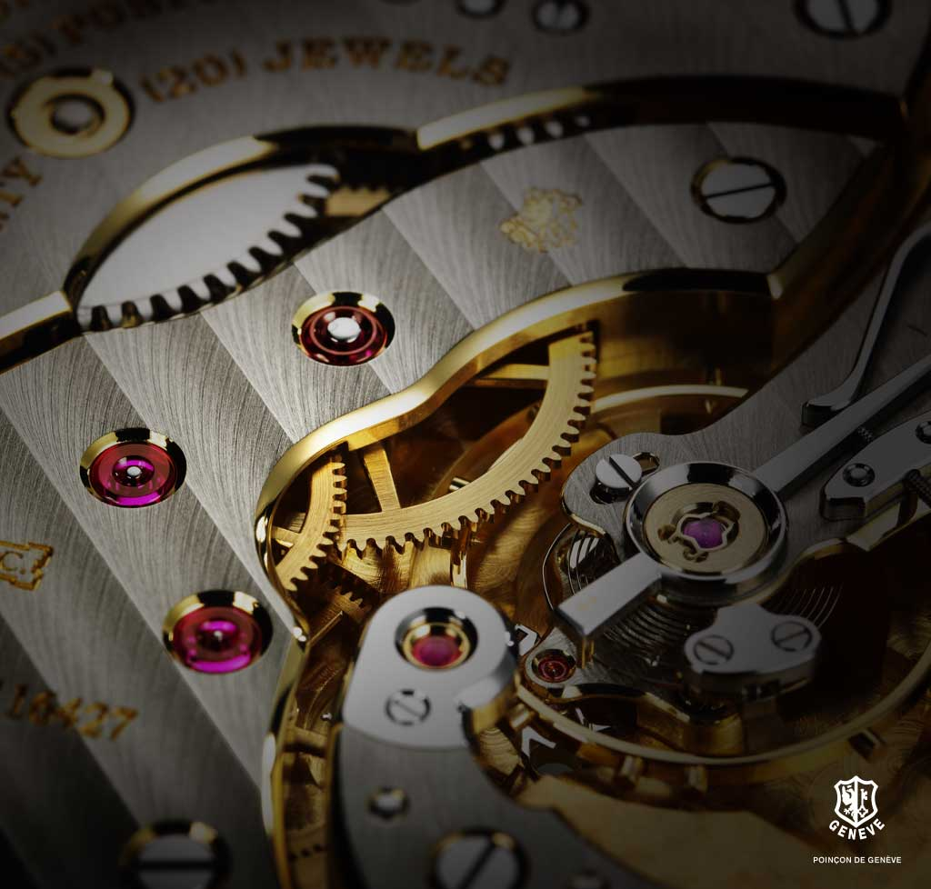 Details of the L.U.C Louis-Ulysse - The Tribute bearing the Poinçon de Genève quality hallmark