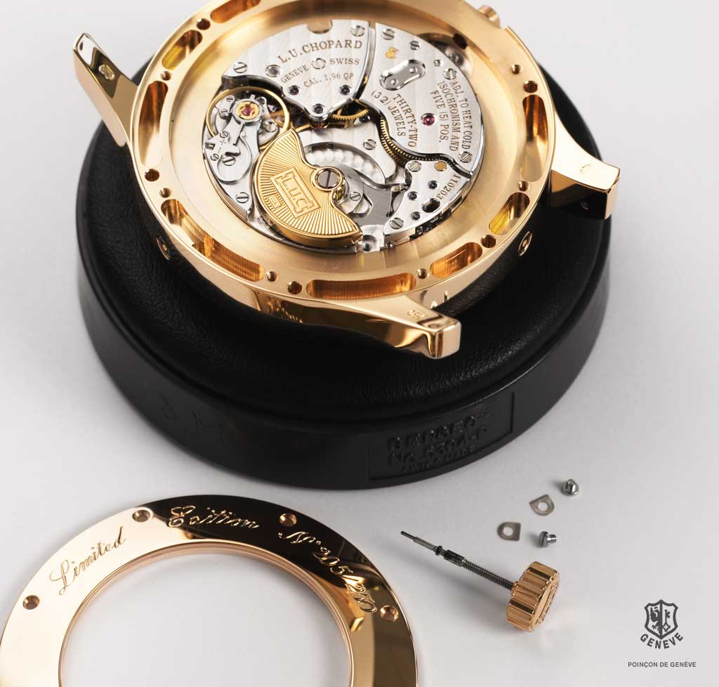 "The parts connecting the movement with the case and dial are to display finishes meeting the characteristics and criteria laid down by the ""Poinçon de Genève""."
