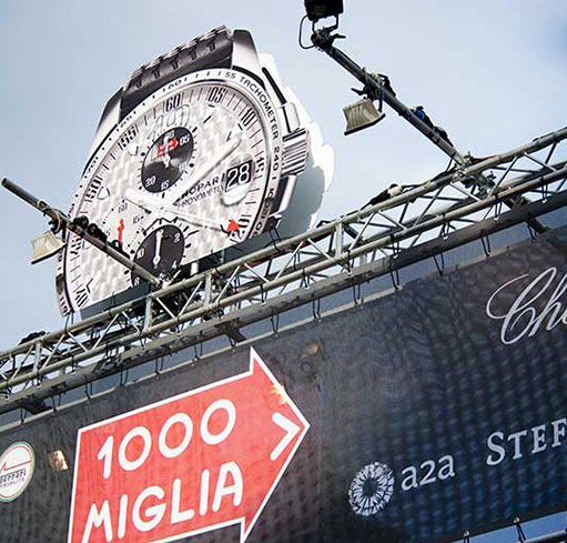 IN 1988, CHOPARD BECAME THE MAIN SPONSOR AND THE OFFICIAL TIMEKEEPER OF MILLE MIGLIA