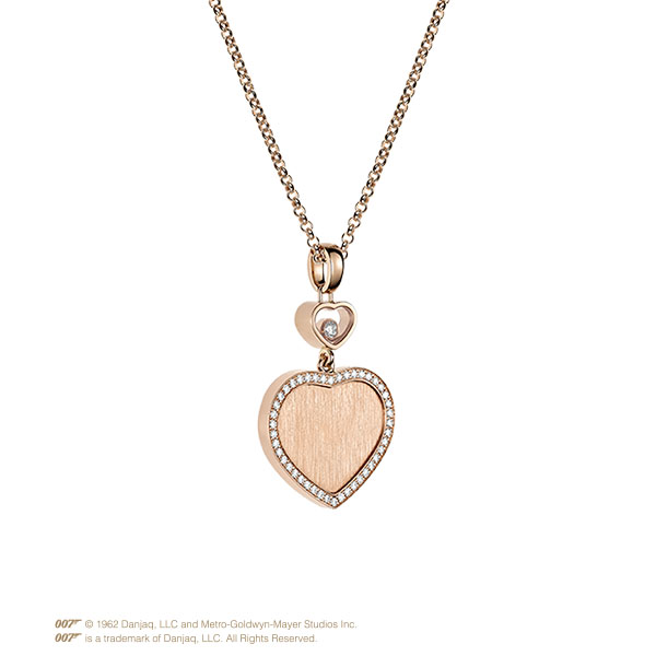 Happy Hearts Golden Hearts Bangle in rose gold and diamonds 4