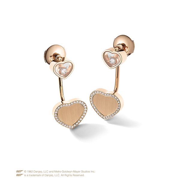 Happy Hearts Golden Hearts Bangle in rose gold and diamonds 5