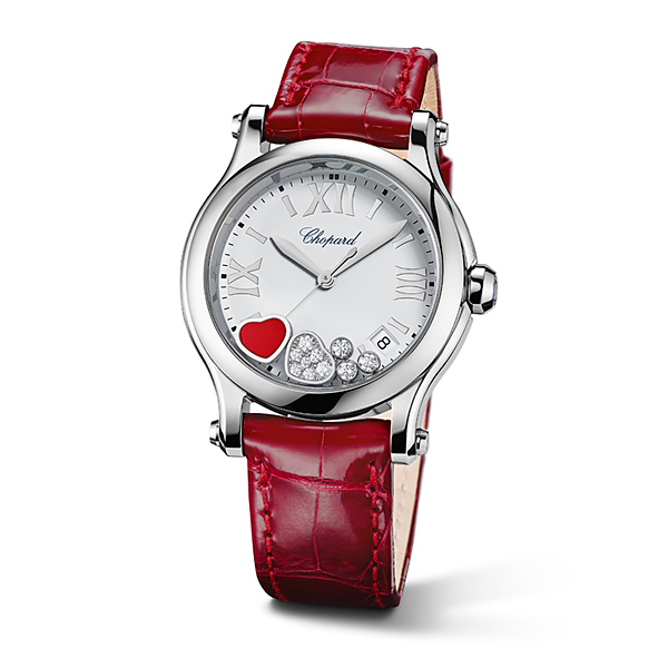 Happy Heart watch with moving hearts and diamonds