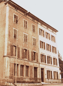Vintage photo of Chopard Manufacture in Sonvilier Switzerland