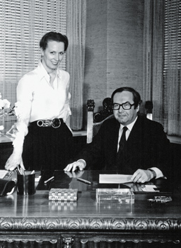 Image of Karl and Karin Scheufele by a desk