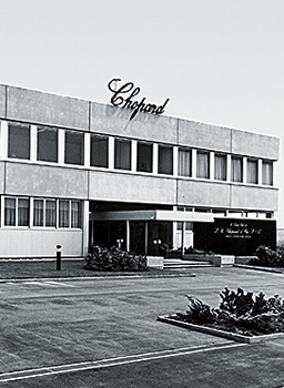 Image of front facade of Chopard headquarters in Geneva Switzerland