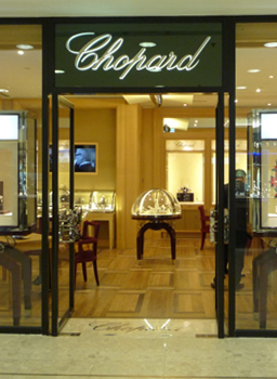 Image of entrance to Chopards first stand alone boutique in Hong Kong