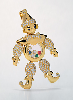 Close up image of Happy Clown jewelry piece