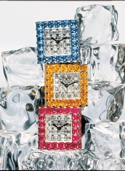 Image of Ice Cube collection watches in yellow, blue and pink