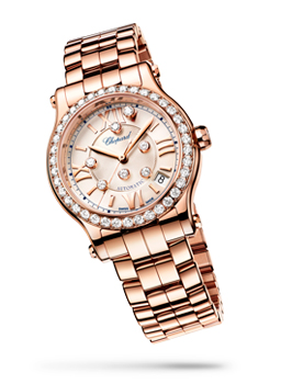 Image of Rose Gold Happy Sport watch