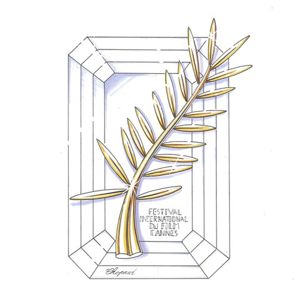Sketch of the Palme d'or trophy