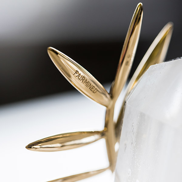 Image of Palme d'or branch engraved with Fairmined