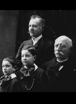 Vintage photograph of the Chopard Family