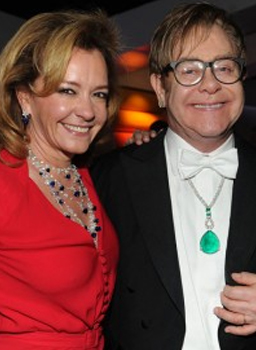 Image of Caroline Scheufele and Elton John