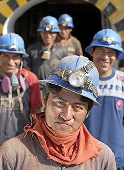 Image of Miners outside a mine