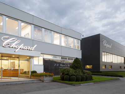 image of main entrance of Chopard Headquarters in geneva switzerland