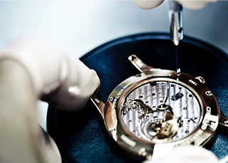 Image of luc watch skeleton case back