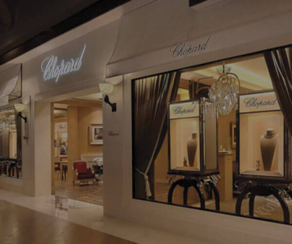 Store Front view of Chopard Boutique