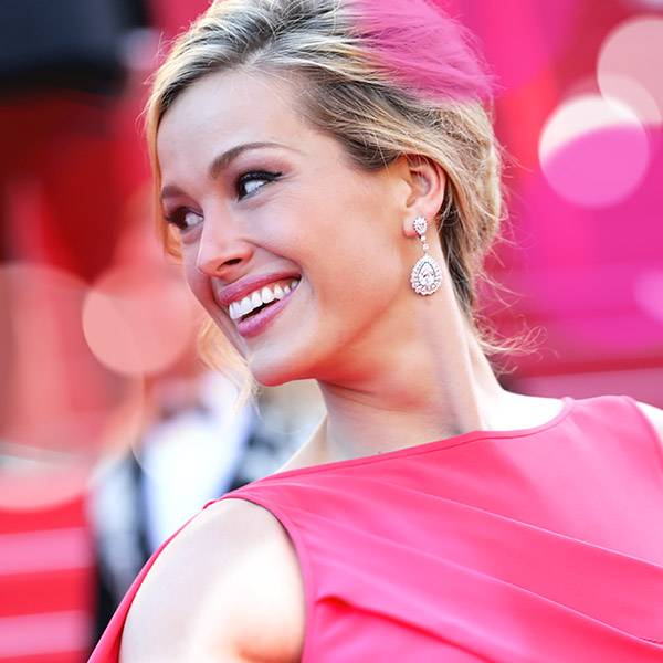 Close-up Image of Petra Nemcova wearing a Chopard Diamond earring