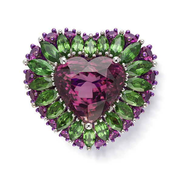 The first lavish rubellite ring