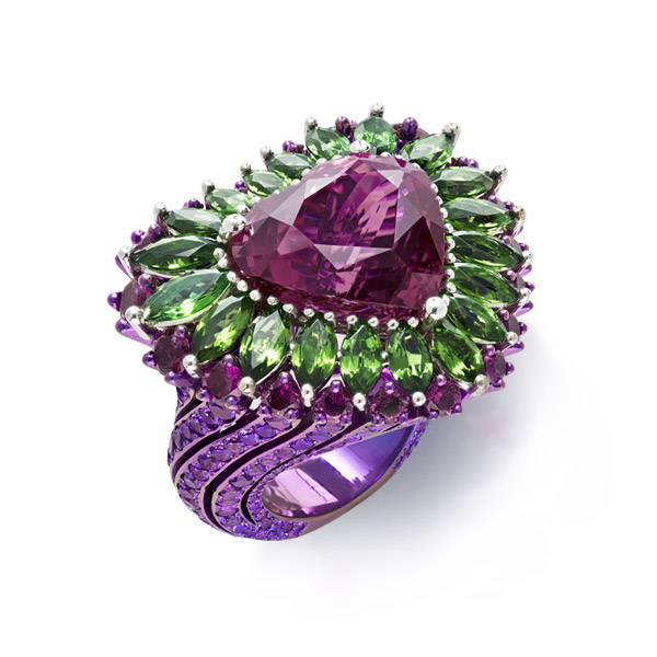 The second lavish rubellite ring