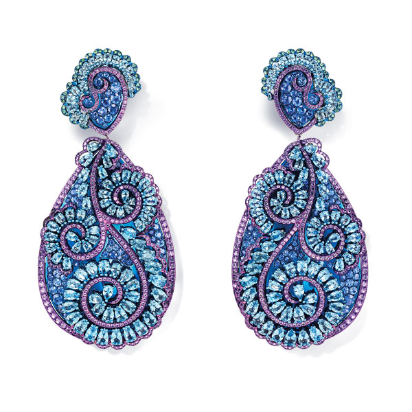 A sublime pair of gem-set earrings