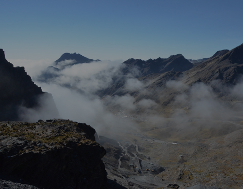 Image of mountain range with cloud coverage