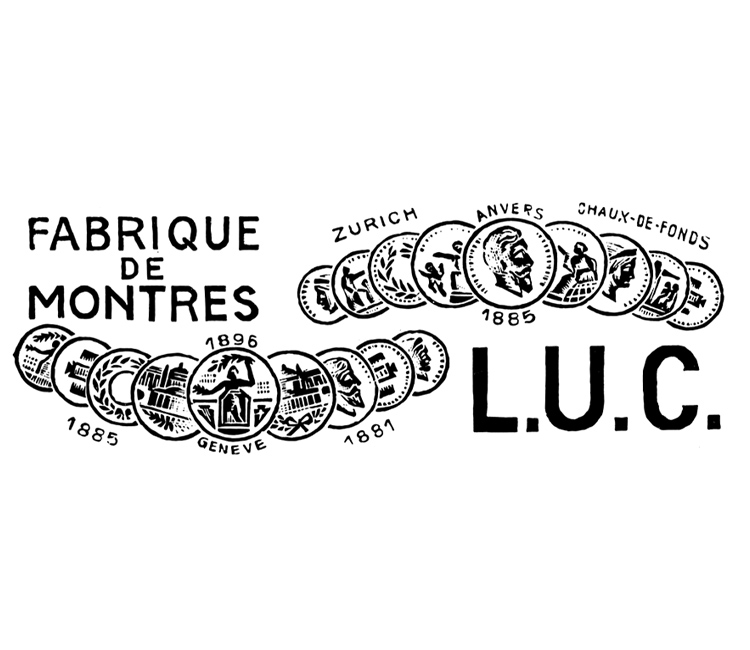 Vintage logo of Chopard LUC watches