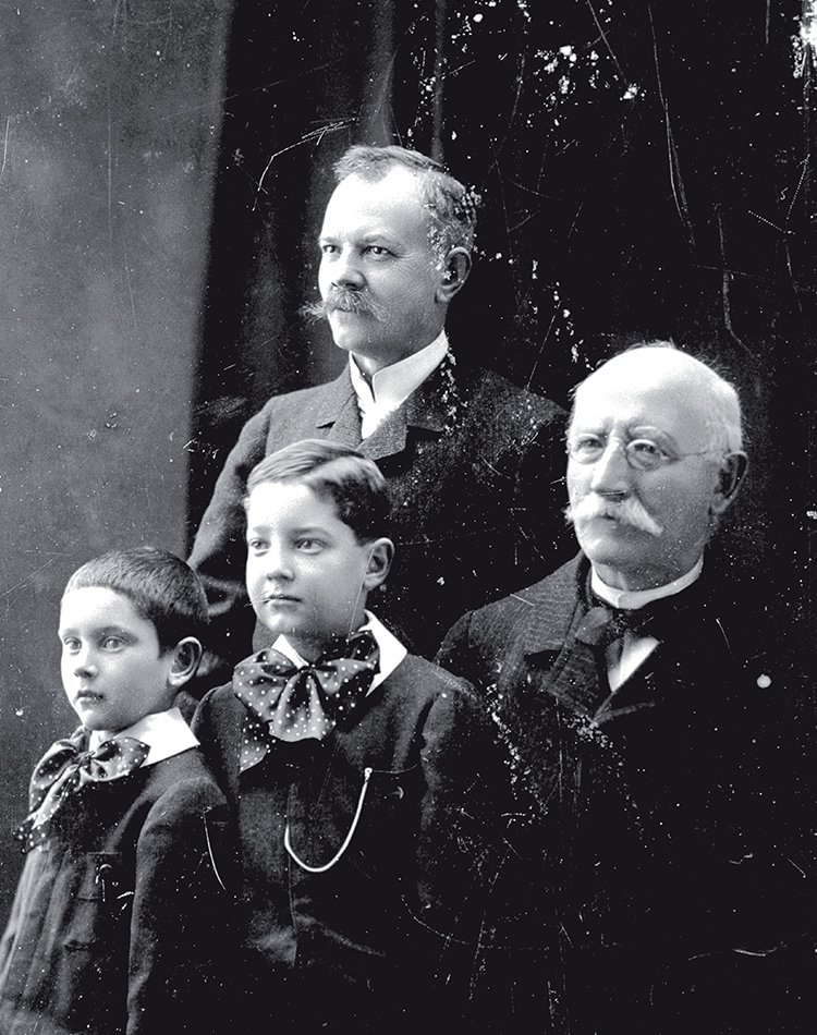 Vintage Image of Paul Andre Chopard & Family