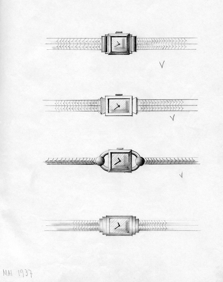 Sketch of vintage watches