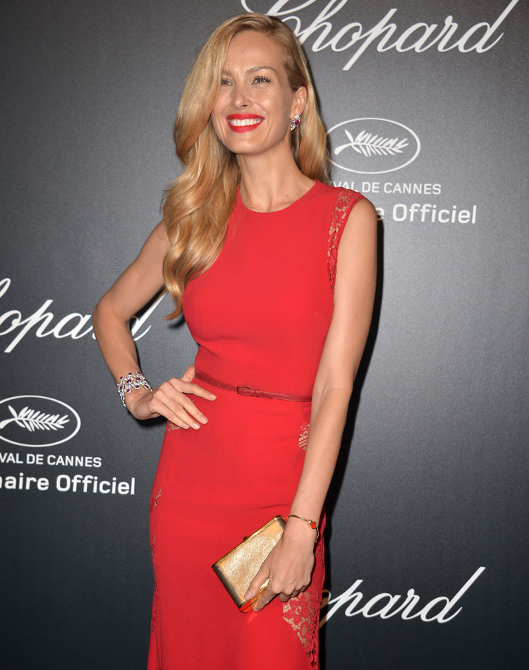Image of model Petra Nemcova at a chopard sponsored event