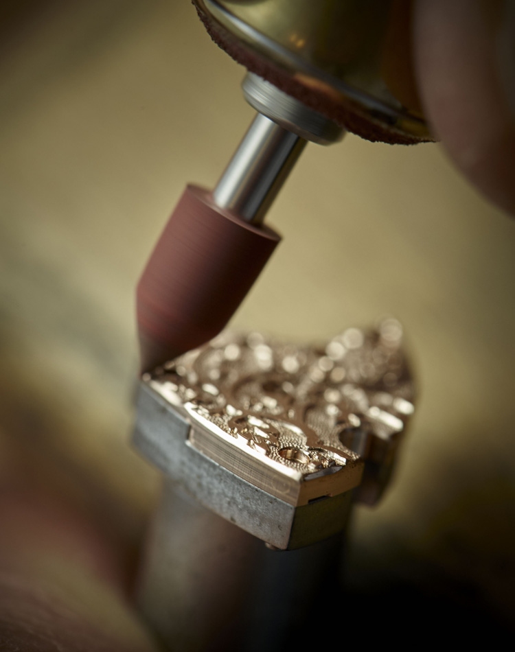 Close-up view of watch maker tools