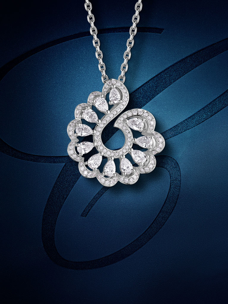 One of Chopard's Precious Lace Collection 2021 necklaces