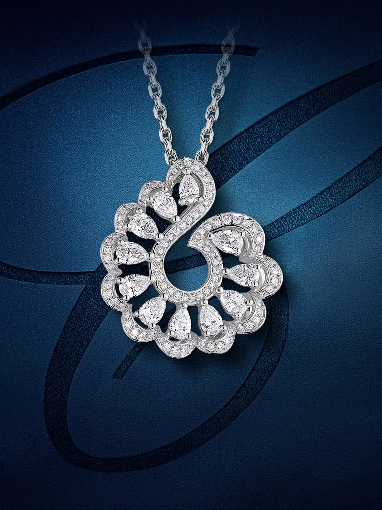 One of Chopard's Precious Lace Collection 2020 necklaces in white gold and diamonds